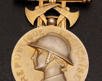MEDAL OF MERIT French firefighters 1935