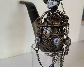 steampunk skull pipe