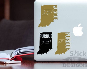 Purdue Custom & Permanent State Vinyl Decal