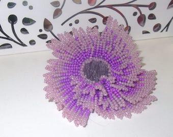 Hair Tie, Flower of beads, Beaded Hair Tie, Lilas flower, hair band, pearl hair ties, girls hair tie, hair scrunchies, pearl hair accessory
