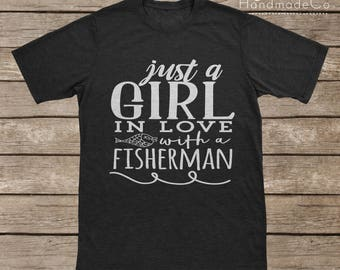 A Girl In Love With A Fisherman T-shirt Transfer/Iron On Vinyl/Iron On Decal/Iron On Sheet/DIY Iron On Transfer/T-shirt Iron On Transfer