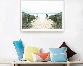 Beach Print Coastal art print, Seascape print beach photo download, Ocean print, large wall decor, nautical decor wall print