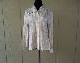 Vintage metallic gold Judy Bond blouse