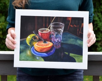 Oil Painting Giclee Reproduction - A Light Breakfast, Still Life Oil Painting