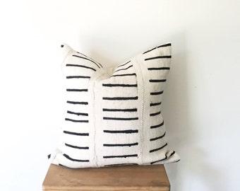 Railroad   Mudcloth Pillow