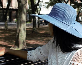 Vintage 70's Wide Brim Paper and Straw Hat