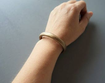 Gold faux leather bracelet