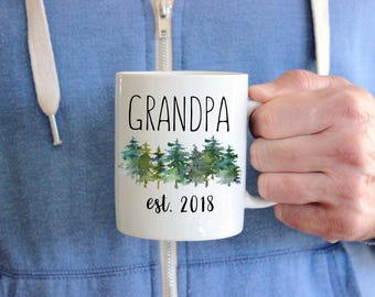 Grandpa Mug, New Baby Announcement, New Grandpa Gift, Gift For Grandfather, Pregnancy Announcement Mug, Grandpa To Be Mug,  Pregnancy Reveal