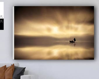 Sunset Boat Print,Sunset print,Sunset Photography Boat Silhouette,Boat in sunset print, Boat at Sunset, Boat Print Sell UK/USA and Australia