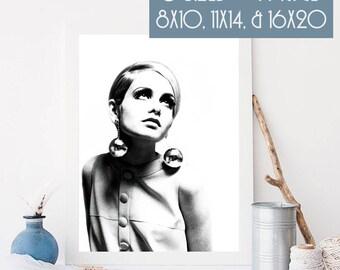 Twiggy Enhanced Digital Art Print, 300 dpi 8x10, 11x14, & 16x20