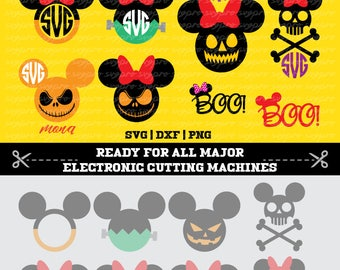 12 Mickey Minnie Mouse Halloween SVG PNG DXF cuttable files Cricut Sizzix Silhouette Cameo Spellbinder ScanNCut DieCut Vinyl Iron On Clipart