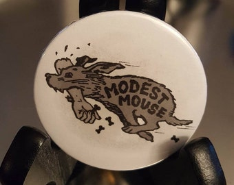 """Modest Mouse Dog Pinback Button 2.25"""""""