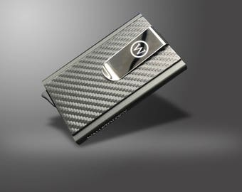 WALLETOLOGY, High Quality Aluminum Leather Piece – Water Resistant - Business ATM And Visiting Card Holder 10 Card Holder