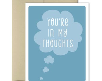 Sympathy cards - Thinking of you Card - Cheer Up Card - Just Because Cards - Get Well Cards - Good Luck Card - In My Thoughts