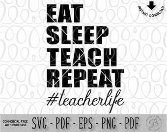 Teacher svg / Teacher life svg / Teacher cut files / teacher appreciation svg / svg files for cricut/ svg files / silhouette files