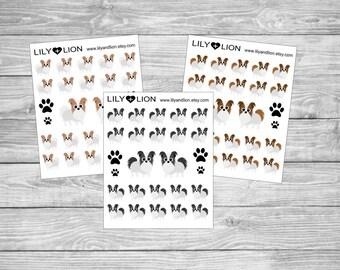 Papillon - Dog - EC - Erin Condren - Plum paper - Happy Planner - diary - pets
