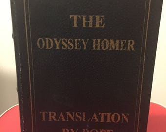 The Odyssey Homer Translated by Pope - Hidden Compartment / Stash / Hollow Book - Mid-Century