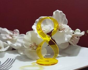 Customizing wedding table number table markers bar restaurant wedding plexiglass acrylic letters