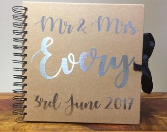 Personalised Wedding guest book, wedding memory book, Wedding photo album