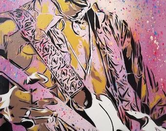 Jimi Hendrix  Spray Paint on Canvas