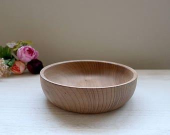 """Oregon Myrtlewood Bowl, 7"""" Vintage Wooden Bowl, Unfinished"""