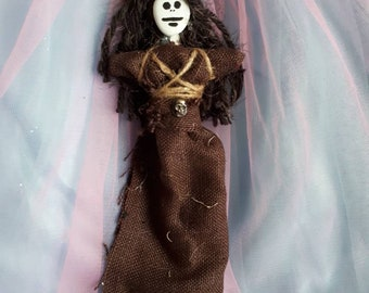 Voodoo Doll, authentic and handmade, New Orleans Inspired, one of a kind, blessed to protect from harm, binding, jinxing, hexing and cursing
