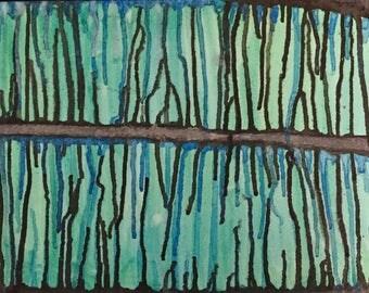 Black, Green & Blue Watercolor