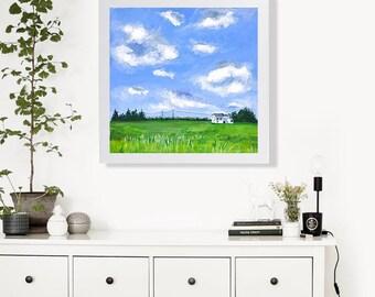 Print - Prairie Painting Art Acrylic Painting