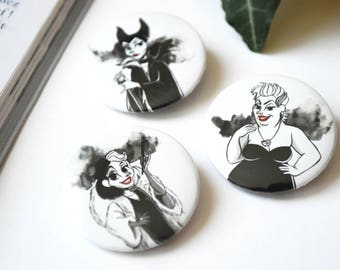 Set of 3 badges of mean girls