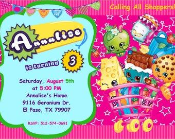 Shopkins Birthday Invitations