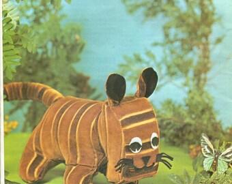 Instant PDF Download Vintage Chart Sewing Pattern Lion Tiger Vintage Soft Lion Tiger Animals Sewing Pattern PDF Stuffed Plush Soft Body Toys