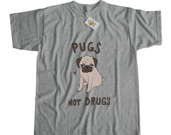 Pugs Not Drugs Shirt Pug Tshirt Dog Tee Pug Lover Shirt Puppy Tshirt Pet Tee Tumblr Tshirt Pug Dog Shirt Pug Clothing Pug Lover Gift Pug Tee