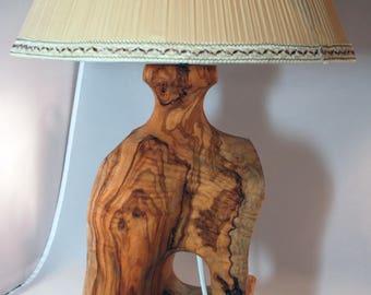 Olivewood Vintage Table Lamp
