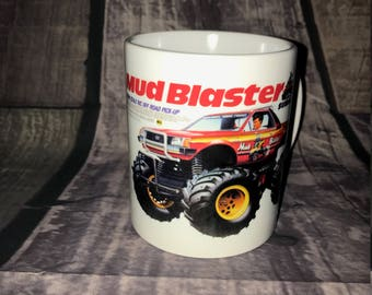 Mud Blaster Coffee Mug with optional Keychain, gift for RC lover, RC Car Coffee Mug, Gift for Him, Radio Controlled Car Mug, RC car gift