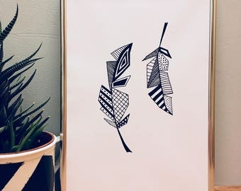 Decorative feathers, INSTANT DOWNLOAD