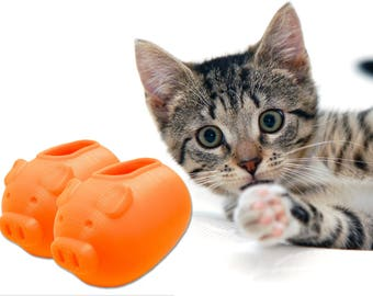 Piggi - Double Pack - 2x Treat Dispenser - Enrichment and Training Toy for Cats - Get Two toys!