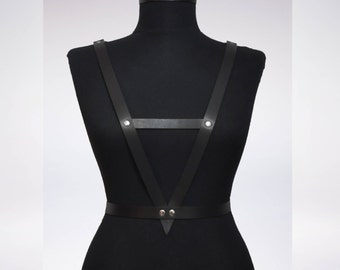 Leather Harness, Body Harness, Harness Belt, Genuine Leather Harness