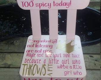 Little Girls Time Out Chair-- ADD a NAME for FREE!