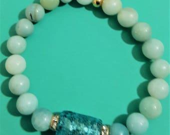 Beaded bracelet Aqua Marine