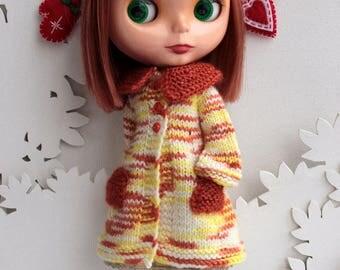 Blythe doll cardigan coat sweater long sleeve