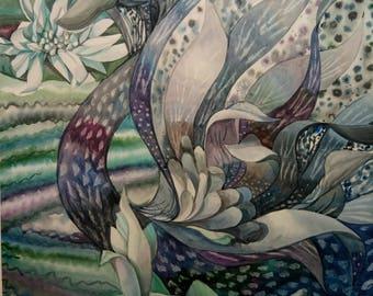 Original Watercolor Painting,Original Artwork,swan painting,watercolor bird,countryside,Lakeswan,lake painting,waterscapes,gray swan,fantasy