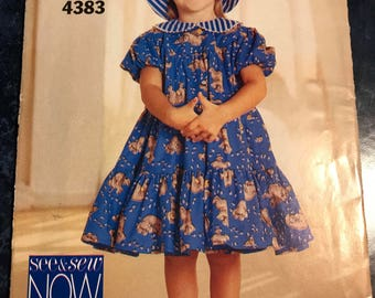 Vintage Butterick See & Sew Dress and hat Pattern 4383