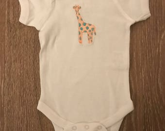Baby Girl Giraffe Onsie