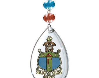 DG Logo Crystal -Crest- Delta Gamma Sorority MAGNETIC ORNAMENT/Delta Gamma Decor/Delta Gamma Ornament/Delta Gamma Dorm Room Decor