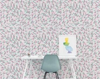 Removable Wallpaper, Herringbone Wallpaper, Herringbone, Boho Style, Peel and Stick Wallpaper, Wall Paper Removable, Wallpaper - A069