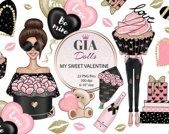 Valentine's day clipart, valentines clipart, love clipart, hearts clipart ,romantic clipart,png