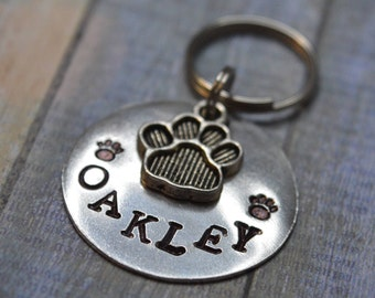 Dog ID Tag, Pet Tags, Personalized Dog Tag, Custom Dog Tags, Handstamped, Metal Stamped, Dog Mom, Dog Tags For Dogs.