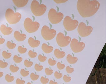 Peach Sticker Sheet