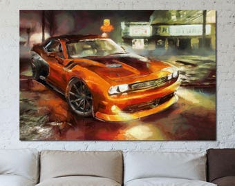 Dodge canvas art etsy dodge canvas large art painting poster wall art interior decor livingroom sciox Image collections