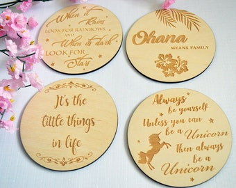 Quote Coasters, Home Decor, Wooden Coasters, Wooden Decor